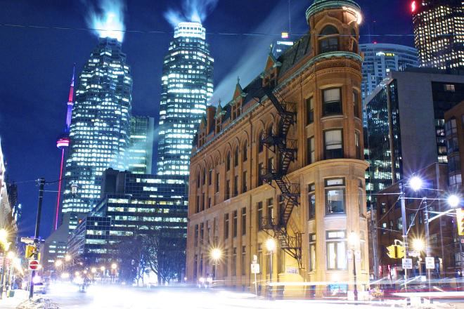 Toronto's flatiron the Gooderham Building. (Photo by Ryan Bolton)